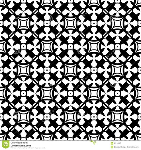 ornamental seamless pattern vector abstract background black white ornamental seamless pattern cartoon vector
