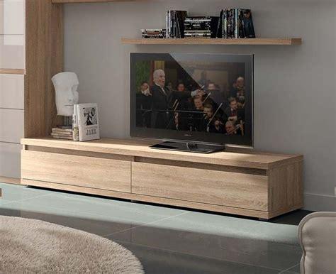 Meuble Tv Chene Clair 2826 by Meuble Tv Couleur Ch 234 Ne Clair Contemporain Adriely 2