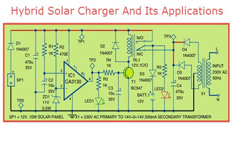 hybrid solar charger circuit design working   applications