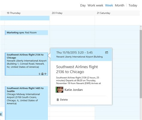 Flight Calendar Office 365 Outlook Web Mail Will Soon Automatically Add