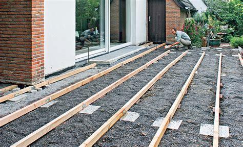 verlegen terrassendielen terrassendielen verlegen holzterrasse bild 17 selbst de