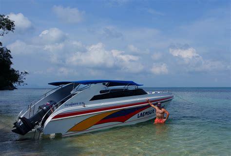 snelheid speedboot laemsor marine speedboot slingerland in thailand