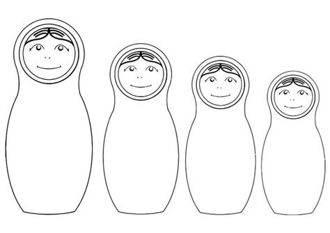 russian nesting dolls template russian nesting dolls coloring page coloring page