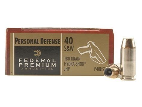 federal premium personal defense ammo 40 s w 180 grain