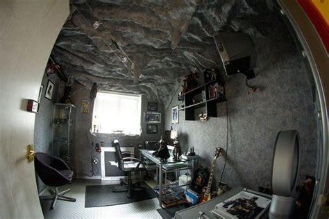 bat cave bedroom batman superfan turns bedroom into amazing batcave