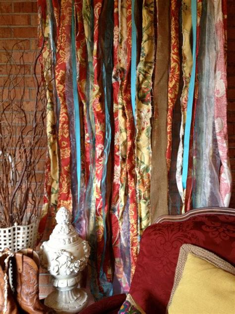 boho curtains boho fabric garland curtain backdrop teen room curtain