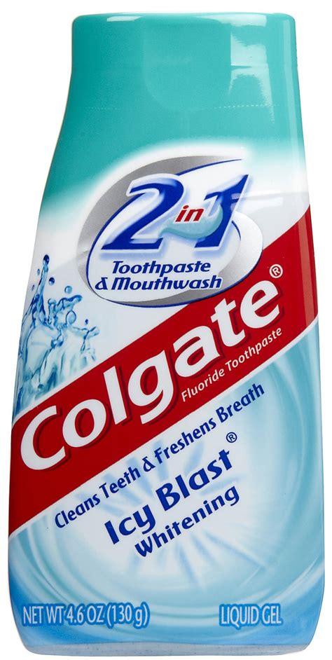 colgate    whitening icy blast toothpaste mouthwash