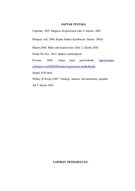Penulisan Daftar Pustaka Nanda Nic Noc | laporan pendahuluan gea