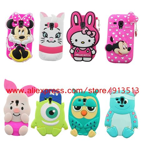 hello kitty themes samsung s3 mini silicone case for samsung galaxy s3 mini 3d minnie hello