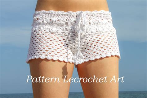 short crochet patrones crochet pattern white beach shorts and shorts color of summer