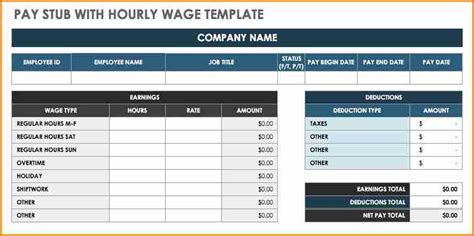 6 Free Pay Stub Template Excel Download Simple Salary Slip Free Check Stub Template Excel
