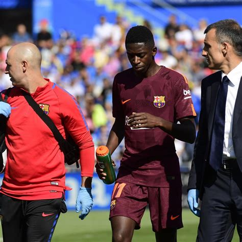 ousmane dembele injury report ousmane dembele to miss 3 4 months after surgery for thigh