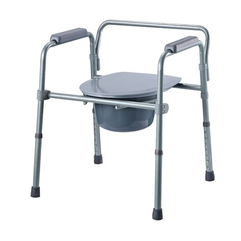 Foldable Toilet Chair by Folding Commode Chair Adjustable And Lightweight Folds