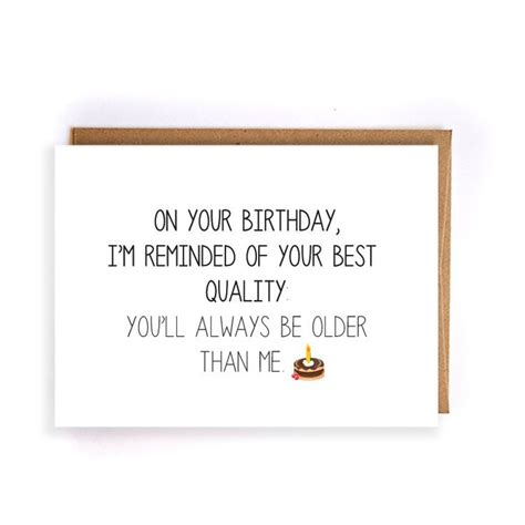 Sarcastic Birthday Card Oh No Another Birthday Greeting 17 Best Ideas About Sister Birthday Gifts On Pinterest