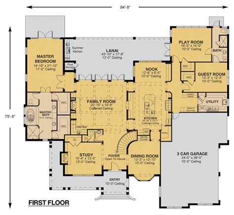 custom home plan floor plan custom home design