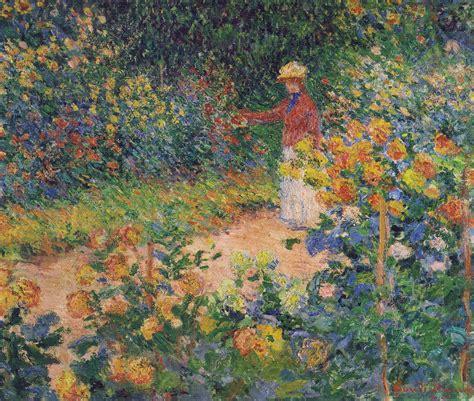 Monet In The Garden by In The Garden 1895 Claude Monet Wikiart Org