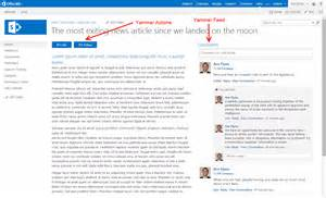 Create Layout Online adding comments likes and follow from yammer into you own