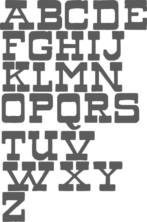 old western font alphabet pictures to pin on pinterest