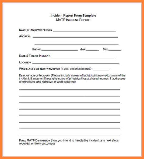 4 Security Guard Incident Report Template Progress Report Security Guard Incident Report Template
