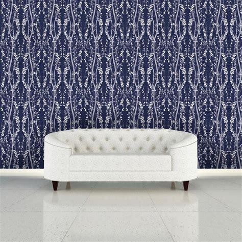 tempaper mystery blue branches wallpaper br089 the home