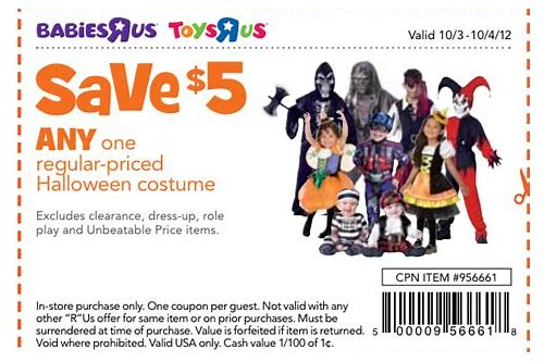 costume coupons online