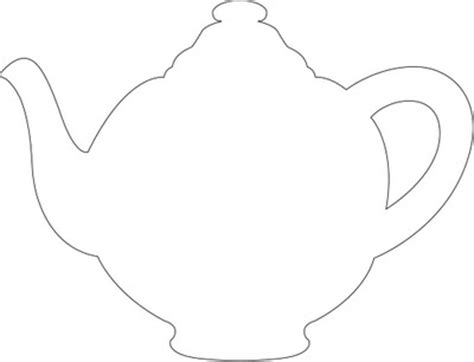 Teapot Card Template by Tea Pot Template Clipart Best Clipart Best