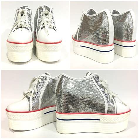 Sepatu Kets Silver jual shs313 silver sepatu kets fashion grosirimpor
