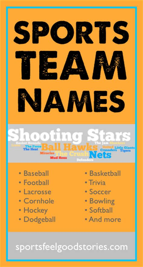 team themes names sports team names list best sport nicknames funny