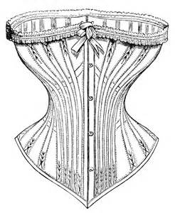 free vintage image corset ad and clip art old design