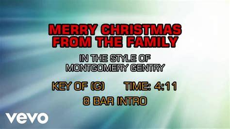 montgomery gentry merry christmas   family karaoke youtube