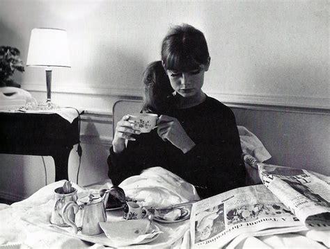 wearing tons to bed poplin london breakfast muse jean shrimpton