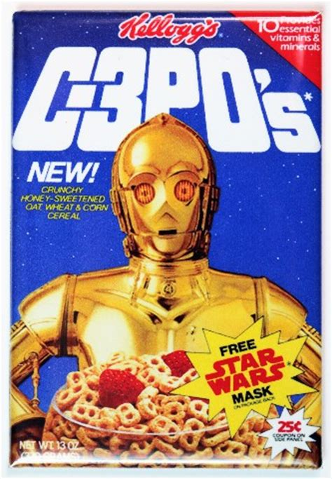 kelloggs  pos cereal fridge magnet cpo star wars