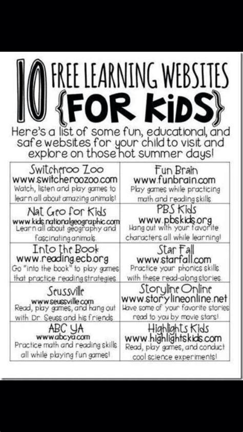 learning websites for kids kids educational pinterest