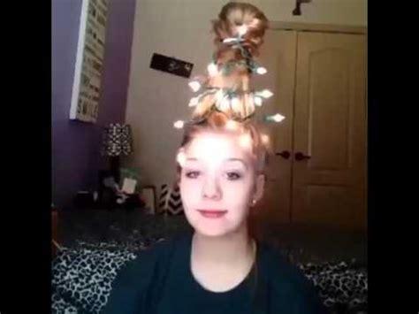christmas tree girls hair do she is really awsame merry