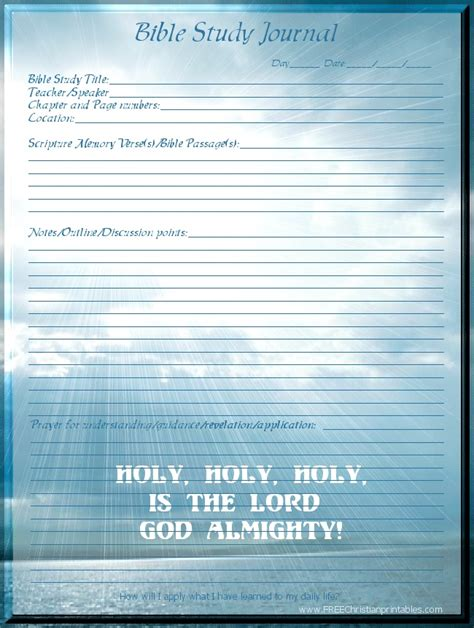 printable bible study journal pages bible study journal page bible study pinterest