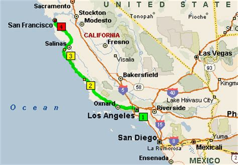 california map from san francisco to la on the road 2003 images frompo