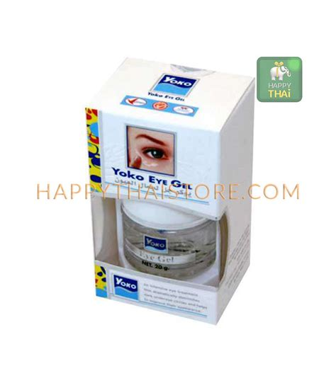 yoko eye gel by gudkos yoko eye gel anti aging anti puffiness 20 g happythai