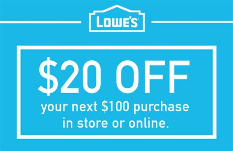 Lowes Coupons 20 Printable