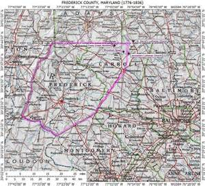 frederick colorado map frederick county maryland genealogy