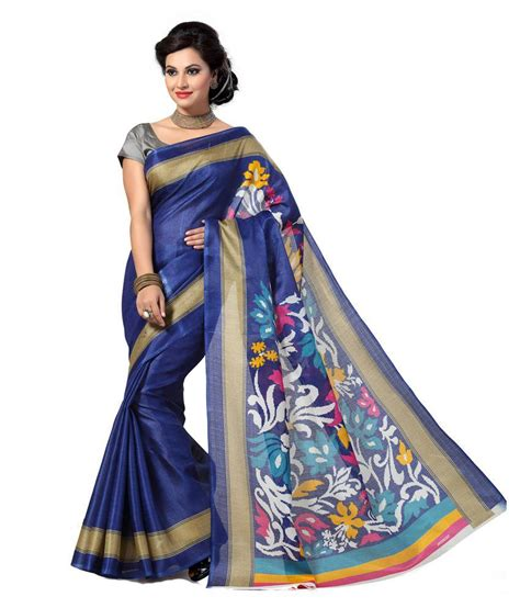 how to drape a silk saree the drape store blue bhagalpuri silk saree buy the drape