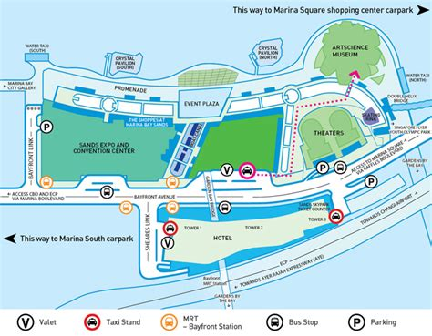 marina bay sands floor plan getting here