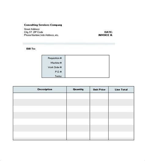 templates for consulting invoices consulting consultant invoice template 7 free sle