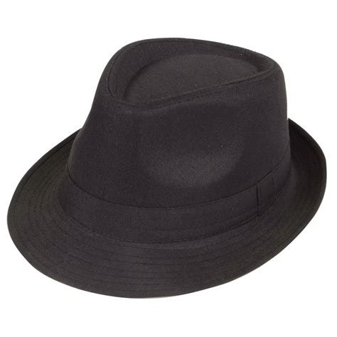 How To Make A Detective Hat Out Of Paper - black 1920 s gangster style vintage mafia fedora fancy