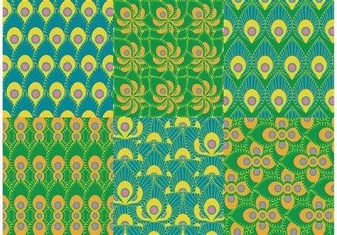 peacock pattern vector green peacock pattern vectors download free vector art
