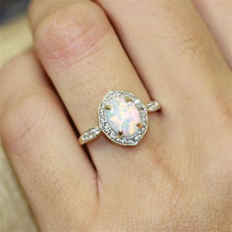 Opal Engagement Rings by Opal Engagement Ring Www Imgkid The Image Kid Has It