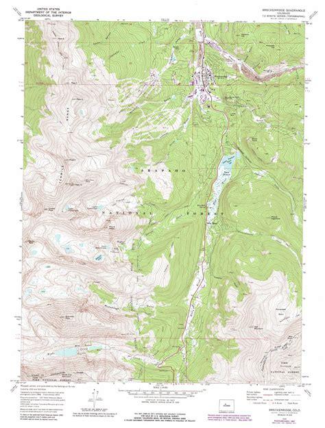 breckenridge map breckenridge topographic map co usgs topo 39106d1