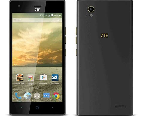zte mobile phone zte warp elite launches at boost mobile with 5 5 inch
