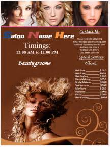 salon flyer templates free salon flyer