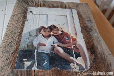 diy mod podge on wood diy photo transfer projects the budget decorator