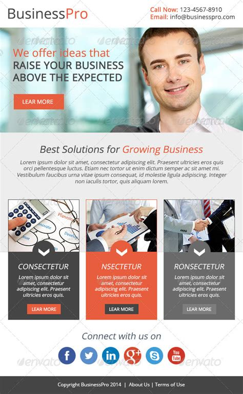 Business Email Newsletter Template On Behance Company Newsletter Email Template